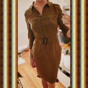 Burberry London SIlk Shirt Dress